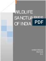 "Biology Investigatory Project On ""WILDLIFE SANCTURIES OF INDIA"""