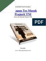 Persiapan Tes Masuk Prajurit TNI