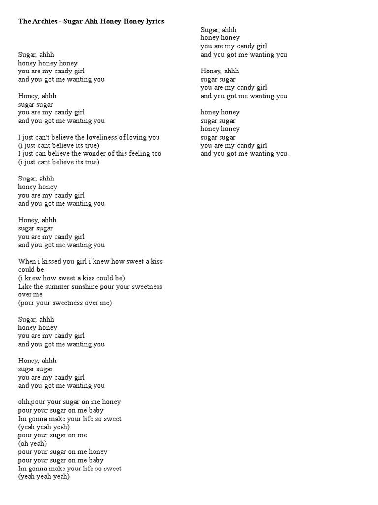 pour your sugar on me lyrics