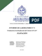 Informe Dosificación Colector SF-114 FLOTACIÓN