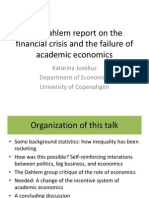 Juselius - The Financial Crisis and the Failure of Academic