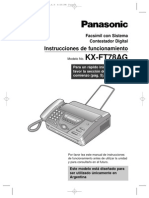 FAX PANASONIC KX-FT78AG(Español)