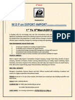 MDP Export and Import