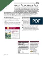 GNLD Acidphilus Plus Fast Facts