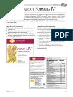 GNLD's Formula IV - Fast Facts