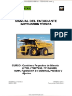 Manual Estudiante Camiones Mineros 777d 775e 773e 771d 769d Cat