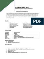 Ansar Mahmood Cv