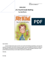 Tales of a 4th Grade Nothing Student Activities