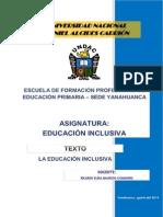 TEXTO EDUCACIÓN INCLUSIVA