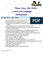 The Three Year Old Child