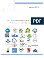 South Sudan Civil	Society	Position	Statement	on	the	 National	Security	Service	Bill