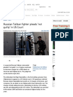Russian Taliban Fighter Pleads 'Not Guilty' in US Court