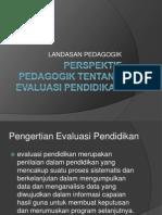 Perspektif Pedagogik tentang evaluasi pendidikan