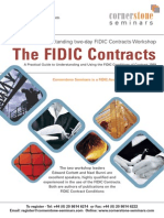 Cornerstone Seminars Fidic Contracts