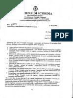 Consiglio Comunale Convocato Per Il 13 Novembre 2014