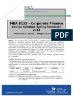 MBA 8135 Course Syllabus Spring 2013 Template