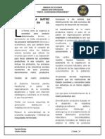 Cambio de La Matriz Productiva en El Ecuador