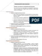 Programacion It León 2014 2015 Grupos