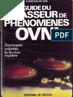 De Zan Christian Guide Du Chasseur de Ph Nom Nes Ovni