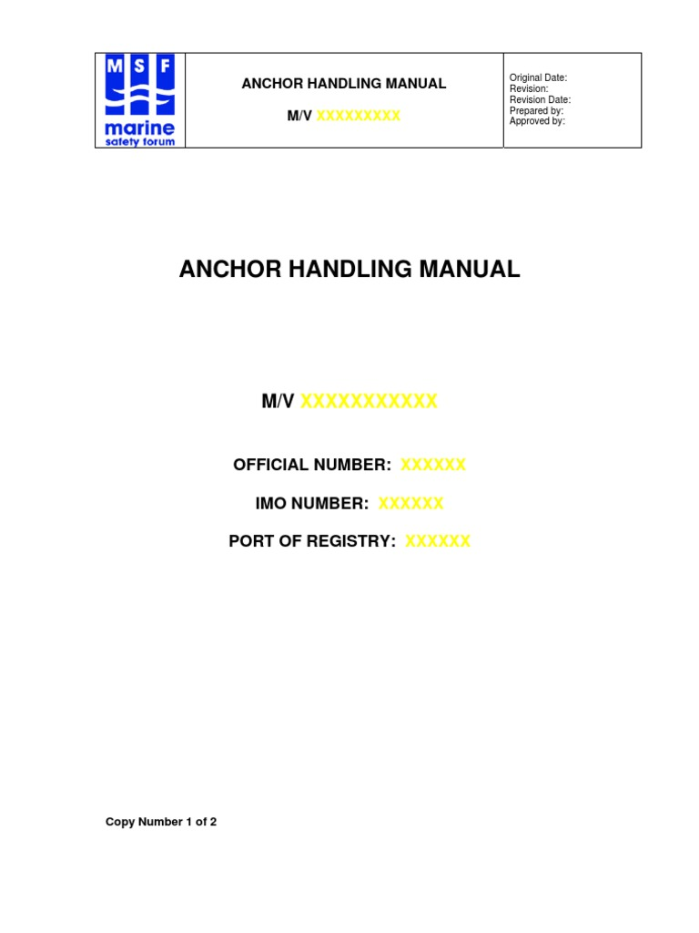 anchor handling manual msf anchor drilling rig rh scribd com maersk anchor handling manual anchor handling manual.pdf
