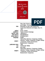 Fiber Optic Sensors for Construction Materials and Bridges