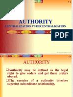 Authority, Centralization vs Decentralization