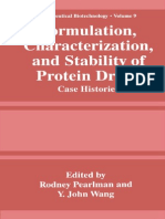 Formulation Characterization and Stability of Protein Drugs Case Histories