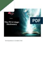 PUA Lingo Dictionary