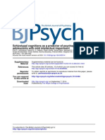 Schizotypal Cognitions as a Predictor of Psychopathology in Adolescents With Mild Intellectual Impairment