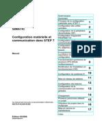 configuration matérielle et communication en step7
