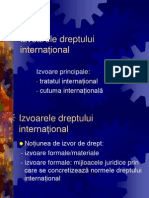 Drept international public - Curs Izvoare Principale