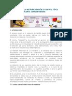 Descripcion Instrumentación y Control Área Molienda