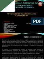 Inventario de Recursos en Planeamiento