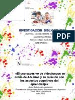 El uso excesivo de videojuegos en niños de 4-5 años y su relación con los aspectos cognitivos del aprendizaje.