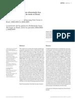 Evolução Das Despesas Com Alimentação Fora Do Domicílio e Influência Da Renda No Brasil, 2002-2003 a 2008-2009