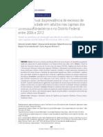 Evolução Anual Da Prevalência de Excesso de Peso e Obesidade Em Adultos Nas Capitais Dos 26 Estados Brasileiros e No Distrito Federal Entre 2006 e 2012