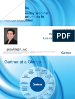 Gartner Big Data Opportunities in Industries
