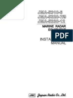 Jma-5300 Installation Manual | Radar | Electrical Connector