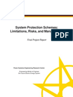System Protection Schemes Limitations, Risks, And Management