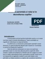 Educatia Parentala Si Rolul Ei in Dezvoltarea Copiilor