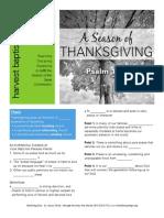 Thanksgiving 2 Psalm 145 Handout 110914