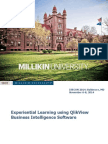 Experiential Learning using QlikView Business Intelligence Software