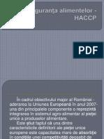 Siguranţa Alimentelor - HACCP Ppt