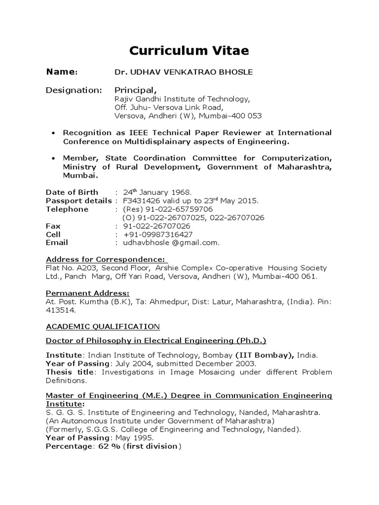 awesome iit bombay resume template doc