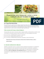 Sugerencias Dieta Alcalina