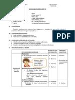 SESIÓN DE APRENDIZAJE N°59  DIVISIÓN DE NÚMEROS DECIMALES