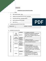 Informe Del Plan Lector Institucional