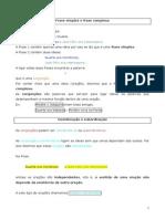 Ficha Gramatical-Frase Simples e Complexa Ficha Das Orações