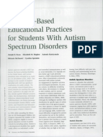 AUTISM - Research Based Educational Practice