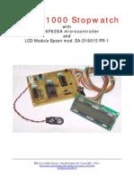 LCD Stopwatch 1/1000 (Service Manual)